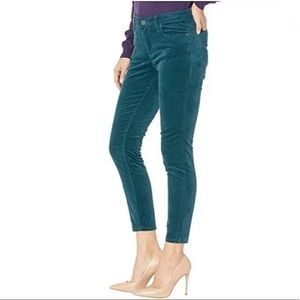 Kut from the Kloth Donna Ankle Skinny Velvet 12